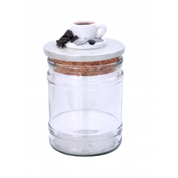 Vaso in Vetro con tappo in sughero Caffè
