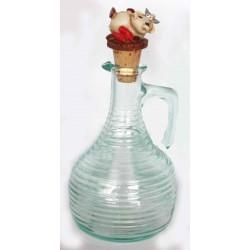Bottiglia vetro rigato Olio d'Oliva Piccante  Alice