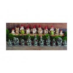 scacchi gnomi /trolls di pietra