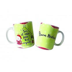Tazza ceramica stampata Buon Natale con Lumaca